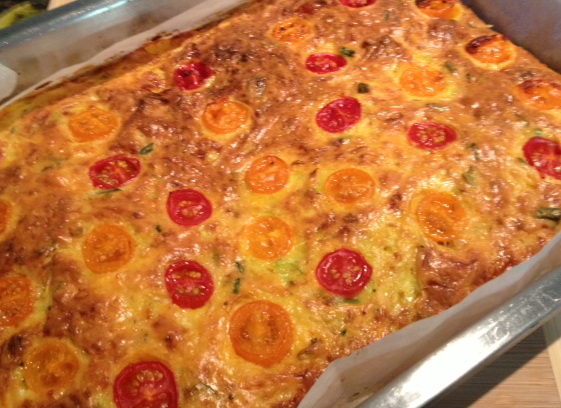 frittata in  tin cropped