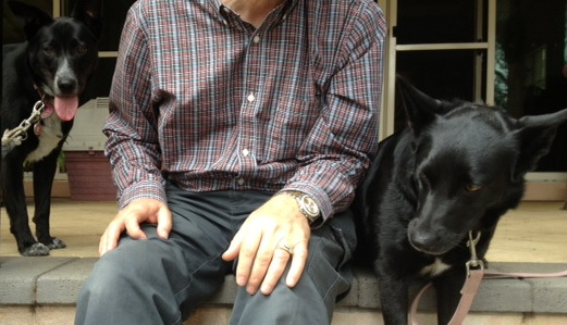 Dad and dogs cropped
