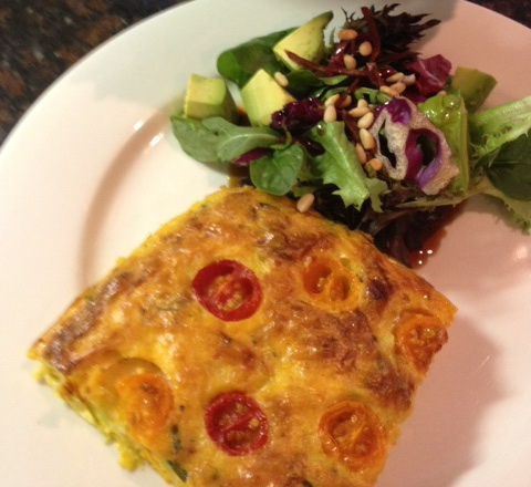 Frittata on plate cropped